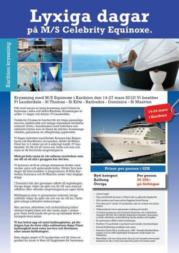 Lyxiga dagar på M/S Celebrity Equinoxe. - Poseidon Travel