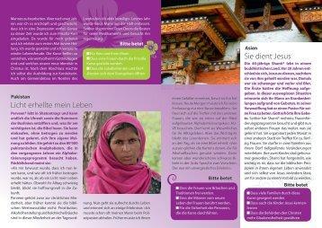 Gebetsbrief Mai 2012 - Open Doors