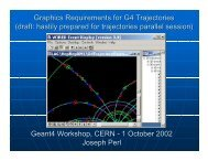 Graphics Requirements for G4 Trajectories (draft ... - Geant4 - CERN