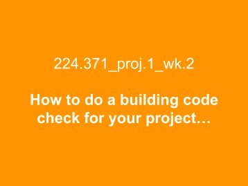 Building Code Check_pres - Spatial Design@Massey