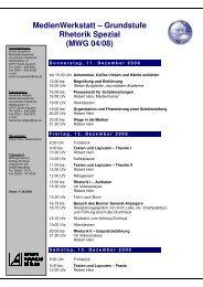 Rhetorik Spezial MWG 04-08 - Journalisten Akademie