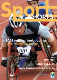 Sportshorts April 2005 - NSW Sport and Recreation