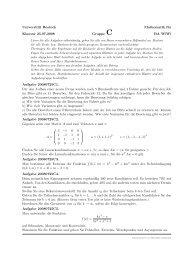 Universität Rostock Mathematik für Klausur 25.07.2008 Gruppe C ...