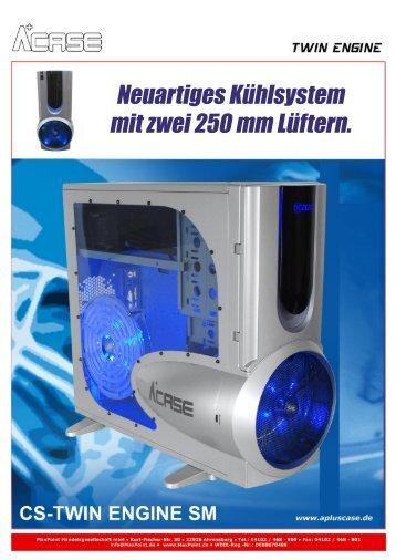 Neuartiges Kühlsystem mit zwei 250 mm Lüftern. - Maxpoint