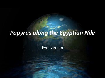 Papyrus along the Egyptian Nile - Natural Resource Ecology and ...
