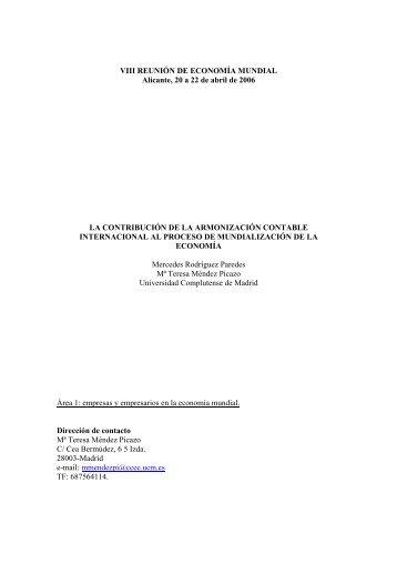 1.13. La contribución de la armonización contable internacional al ...