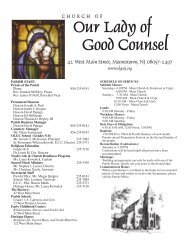 Religious Education News - Our Lady of Good Counsel