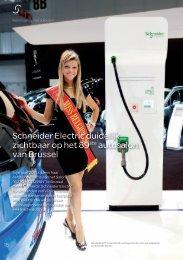 Schneider Electric duidelijk zichtbaar  op het 89ste autosalon van ...