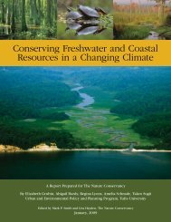 Conserving Freshwater and Coastal Resources in a Changing Climate
