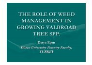 The role of weed management in growing valuable ... - valbro.de