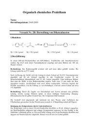 Herstellung von Dibenzalaceton