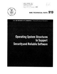 Operating System Structures to Support Security and Reliable ...