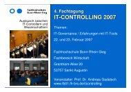 IT-CONTROLLING 2007 - Hochschule Bonn-Rhein-Sieg