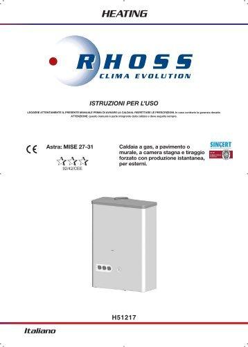 H51217-v07 Manuale Istr. per l'uso Astra MISE 27 3STELLE - Rhoss