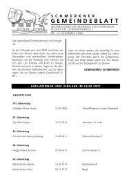 PDF: Gemeindeblatt vom Dezember 2006 - Gemeinde Schmerikon