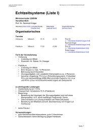 Echtzeitsysteme (Liste I) - Labor für Verteilte Systeme