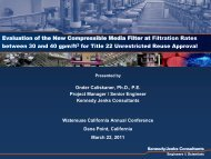 City of Roseville - Evaluation of the New Compressible Media Filter