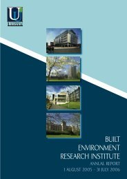 Built Environment Research Institute - University of Ulster