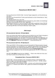 Flanschnorm DIN EN 1092-1 - Schoch Edelstahl GmbH