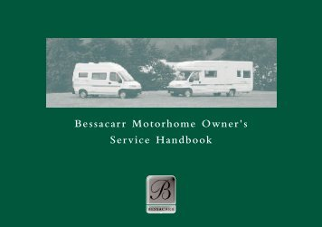 Bessacarr Motorhome Owner's Service Handbook - Swift Group