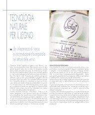 TECNOLOGIA NATURALE PER IL LEGNO - Solas