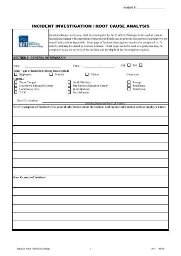 Accident incident investigation checklist panhandle area for Vehicle accident investigation form template