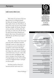 Heft 2 - 2011 - Basler Liedertafel