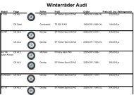 Winterräder Audi - Max Moritz