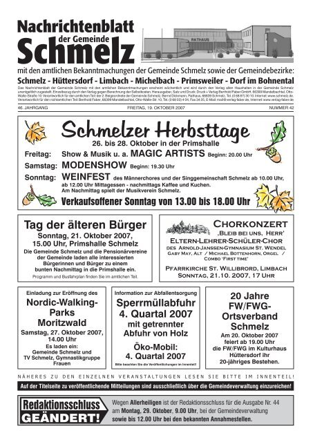 Nr. 422007 Gemeinde Schmelz
