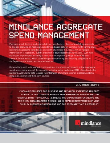 MINDLANCE AGGREGATE SPEND MANAGEMENT