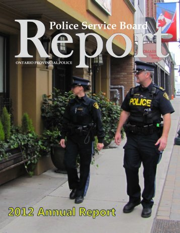 Police Service Board Report - City of Quinte West