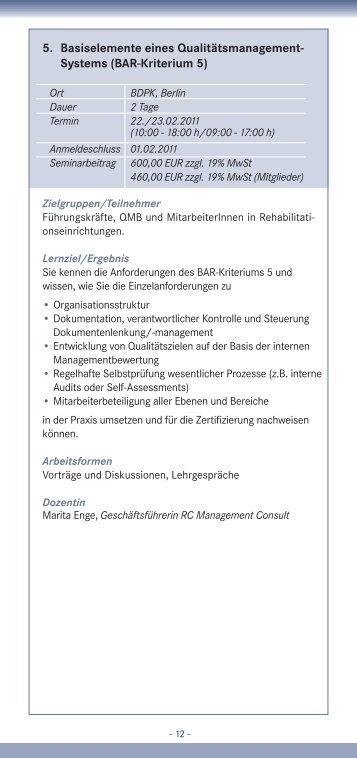 Systems (BAR-Kriterium 5) - IQMG Institut für Qualitätsmanagement ...
