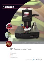 durability of – inks • coatings - ATI Corp