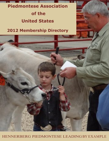 Click photo to view member directory - Piedmontese Association of ...
