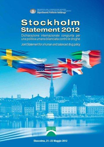 Stockholm - Dipartimento per le politiche antidroga