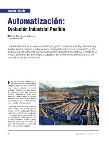 Administración Automatización - Revista El Mueble y La Madera