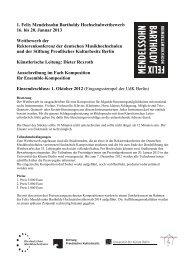 1. Felix Mendelssohn Bartholdy Hochschulwettbewerb 16. bis 20 ...