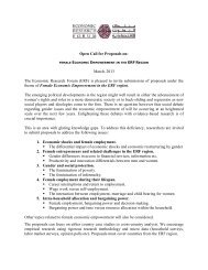 Open Call for Proposals on: March, 2013 The Economic Research ...