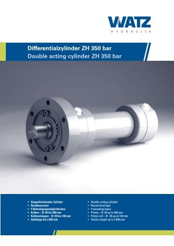 Differentialzylinder ZH (350 bar) - Watz Hydraulik GmbH