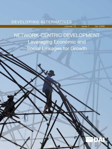 Network-ceNtric DevelopmeNt leveraging economic and ... - DAI