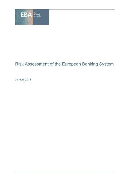 EBA Long Report - European Banking Authority - Europa