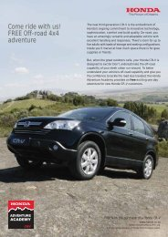 Come ride with us! FREE Off-road 4x4 adventure - Honda South Africa