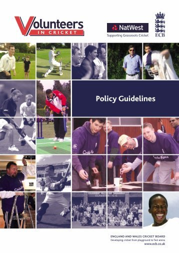 Volunteers Practice Guidelines - Ecb - England and Wales Cricket ...