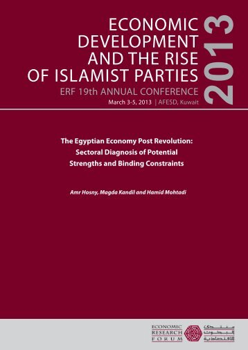 The Egyptian Economy Post Revolution - Economic Research Forum