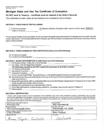 Application for Sales Tax Certificate of Exemption - Alabama ...