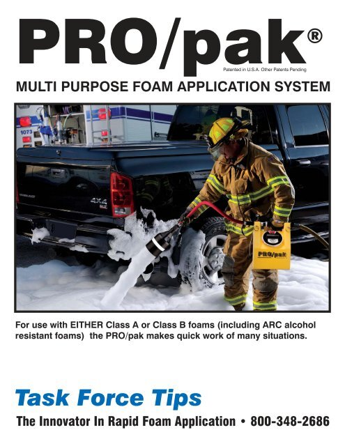 PRO/pak Brochure - Task Force Tips