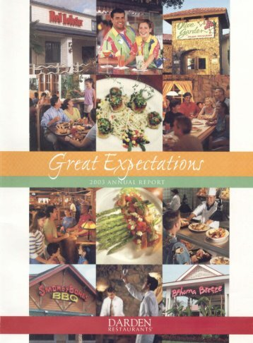 Annual Report 2003 - Investor Relations - Darden Restaurants
