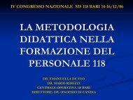 E. De Feo, M. Ribezzi - Formazione In Emergenza Sanitaria
