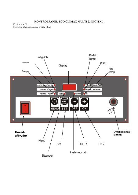 ECO Climax manual - Fyrteknik