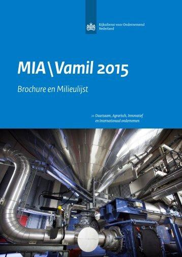 Brochure&Milieulijst 2015